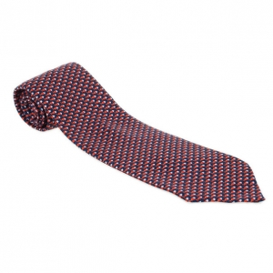 Bvlgari Red & Blue Silk Tie