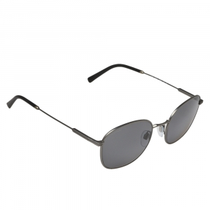 Bvlgari Matte Gunmetal / Grey Polarized BV5049 Oval Sunglasses