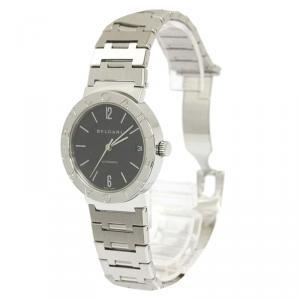 Bvlgari Black Stainless Steel Bvlgari-Bvlgari Men's Wristwatch 33MM