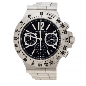 Bvlgari Black Stainless Steel Diagono Professional Terra CH40STA Men's Wristwatch 40 mm