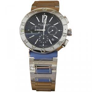 Bvlgari Black Stainless Steel Bvlgari Bvlgari Men's Wristwatch 41MM