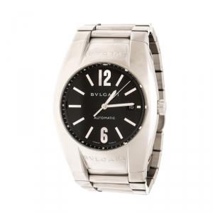 Bvlgari Black Stainless Steel Ergon EG40S Men's Wristwatch 40 mm