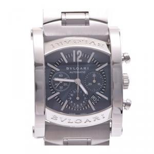 Bvlgari Gray Stainless Steel Ashoma 44 Chrono AA44SCH Men's Wristwatch 44 MM