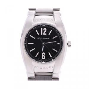 Bvlgari Black Stainless Steel Ergon EG30S Men's Wristwatch 30 MM