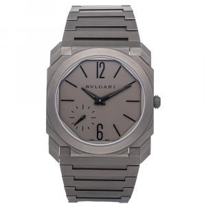 Bvlgari Gray Titanium Octo Finnissimo 102713 Men's Wristwatch 40 MM