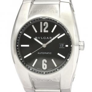 Bvlgari Black Stainless Steel Ergon EG40S Automatic Men's Wristwatch 40 MM