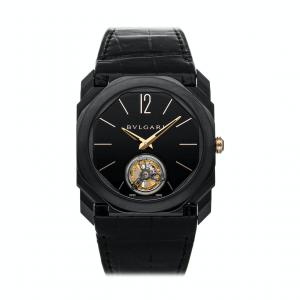 Bvlgari Black Octo Tourbillon Ultranero 102560 Men's Wristwatch 40 MM