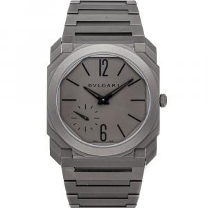 Bvlgari Grey Titanium Octo Finissimo 102713 Men's Wristwatch 40 MM