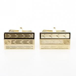 Caran D'Ache Gold Plated Ecridor Chevron Engraved Cufflinks