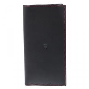 Carolina Herrera Black/Red Leather 18 CC Continental Wallet