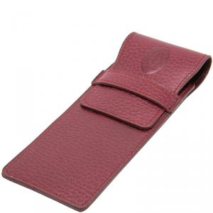 Cartier Maroon Vintage Pen Case Leather