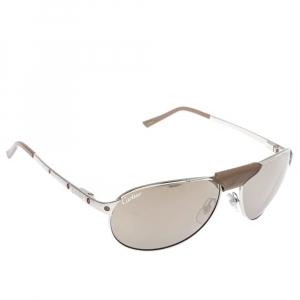 نظارة شمسية كارتييه وايفرار سانتوس دومونت سانتوس دو كارتييه عاكسة فضية