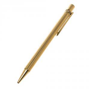 Cartier Must de Cartier Textured Gold Finish Ballpoint Pen
