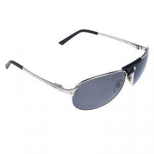Cartier Silver Santos De Cartier Polarized Aviator Sunglasses