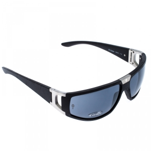 Cartier Black/Grey Matte Santos Sport 115 Shield Sunglasses