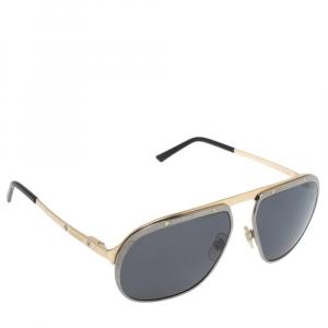 """نظارة شمسية كارتييه """"سي تي0035أس بولاريزد سانتوس دو كارتييه"""" افياتور رصاصي و معدن مصقول"""