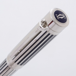 Cartier Pasha Blue Lacquer Plated Ball Pen