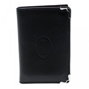 Cartier Black Leather Must De Cartier Card Holder