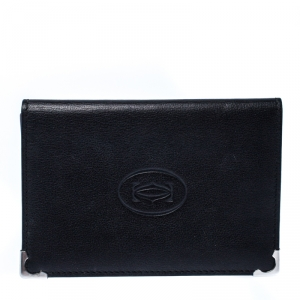 Cartier Black Leather Marcello de Cartier Bifold Wallet