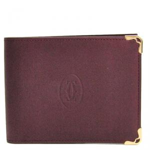 Cartier Bordeaux Leather Must Bifold Wallet