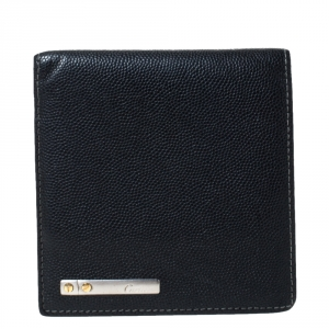 Cartier Cartier Black Leather Must De Cartier Bifold Wallet