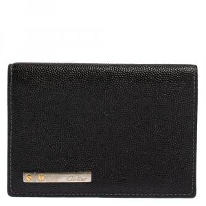 Cartier Black Leather Santos Business Card Holder