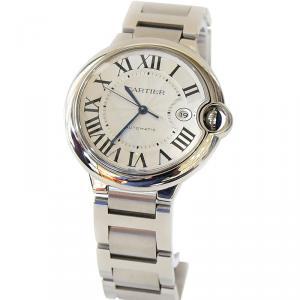 Cartier White Stainless Steel Ballon Bleu Men's Wristwatch 42MM