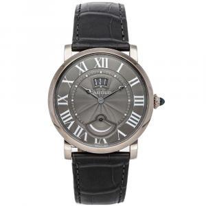 Cartier Gray 18K White Gold Rotonde De Cartier W1556253 Men's Wristwatch 40 MM
