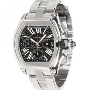 Cartier Black Stainless Steel Roadster W62020X6 Men's Wristwatch 43 MM