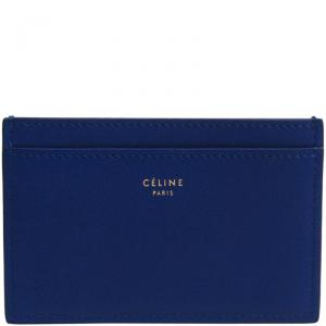 Celine Royal Blue Leather Card Case