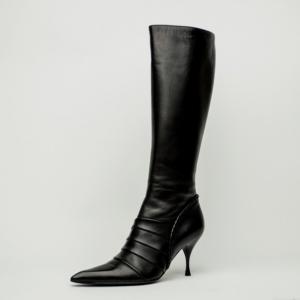 Celine Black Leather Knee Length Boots Size 39