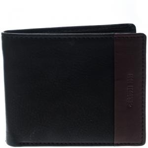 Cerruti 1881 Black/Brown Leather Cerrutis Bifold Wallet