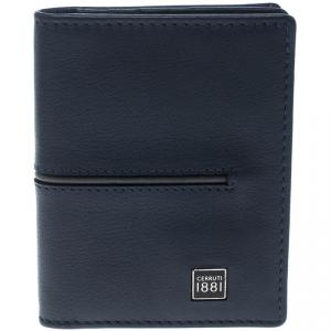 Cerruti 1881 Navy Blue/Grey Leather Ripon Card Case