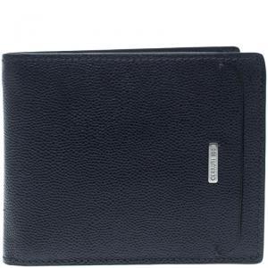 Cerruti 1881 Navy Blue Leather Baku Bifold Wallet