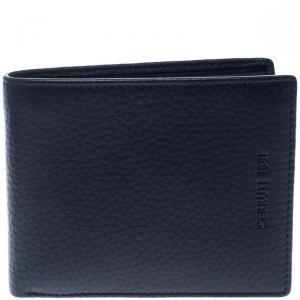 Cerruti 1881 Dark Blue Leather Derby Bifold Wallet
