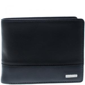 Cerruti 1881 Black/Grey Leather York B Bifold Wallet
