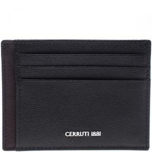 Cerruti 1881 Brown/Burgundy Leather Hartford Card Holder