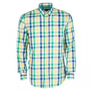 CH Carolina Herrera Checked Cotton Long Sleeve Button Down Shirt L