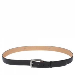 Chanel Black Leather Classic Belt 95CM