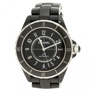 Chanel Black Ceramic J12 Men's Wristwatch 41 mm