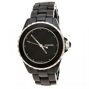 ساعة يد نسائية شانيل H5581 إصدار محدود J12 سيراميك سوداء 38 مم
