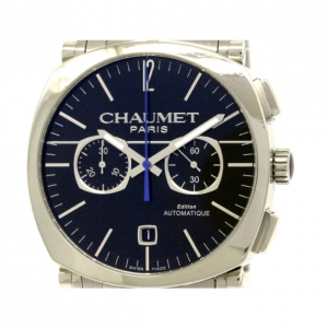 Chaumet Navy Stainless Steel Dandy Chronograph Men's Wristwatch 40MM