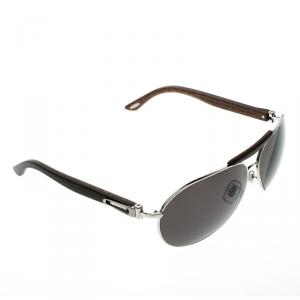 Chopard Brown/Smoke Polarized SCHA55V 579P Aviator Sunglasses