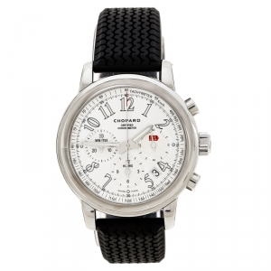 Chopard Silver Stainless Steel Mille Miglia 8511 Men's Wristwatch 42 mm