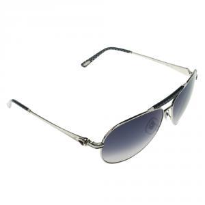 Chopard Blue/Silver SCH870S Aviator Sunglasses