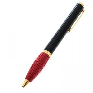 Chopard Black Resin Gold Plated Metal Red Rubber Rollerball Pen