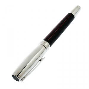 Chopard Il Classico Black Leather Palladium Finish Rollerball Pen