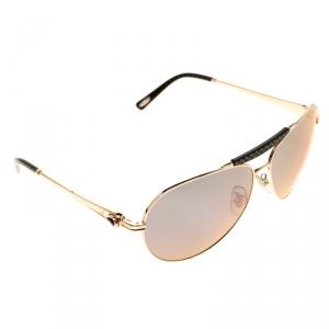 Chopard Gold/Black Purple Mirror SCH870S Aviator Sunglasses