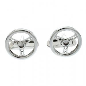 Chopard Stainless Steel Racing Steering Wheel Cufflinks