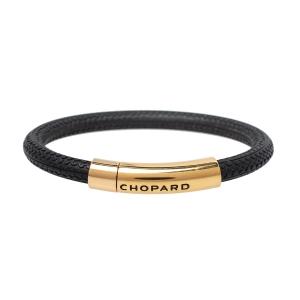 Chopard Mille Miglia Black Rubber Rose Gold Plated Bracelet
